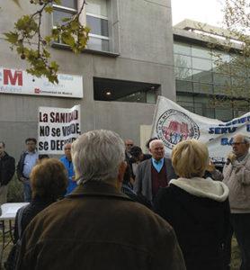 Firmas de apoyo a la reivindicación de un Servicio de Fisioterapia en el Centro de Salud de San Fermín.