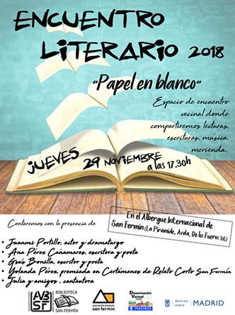 """Encuentro Literario: """"PAPEL EN BLANCO"""""""