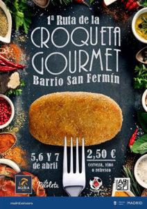 I Ruta de la Croqueta Gourmet en San Fermín. 5, 6 y 7 de abril.