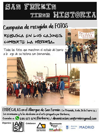 Campaña recogida de fotos de la historia del barrio San Fermín