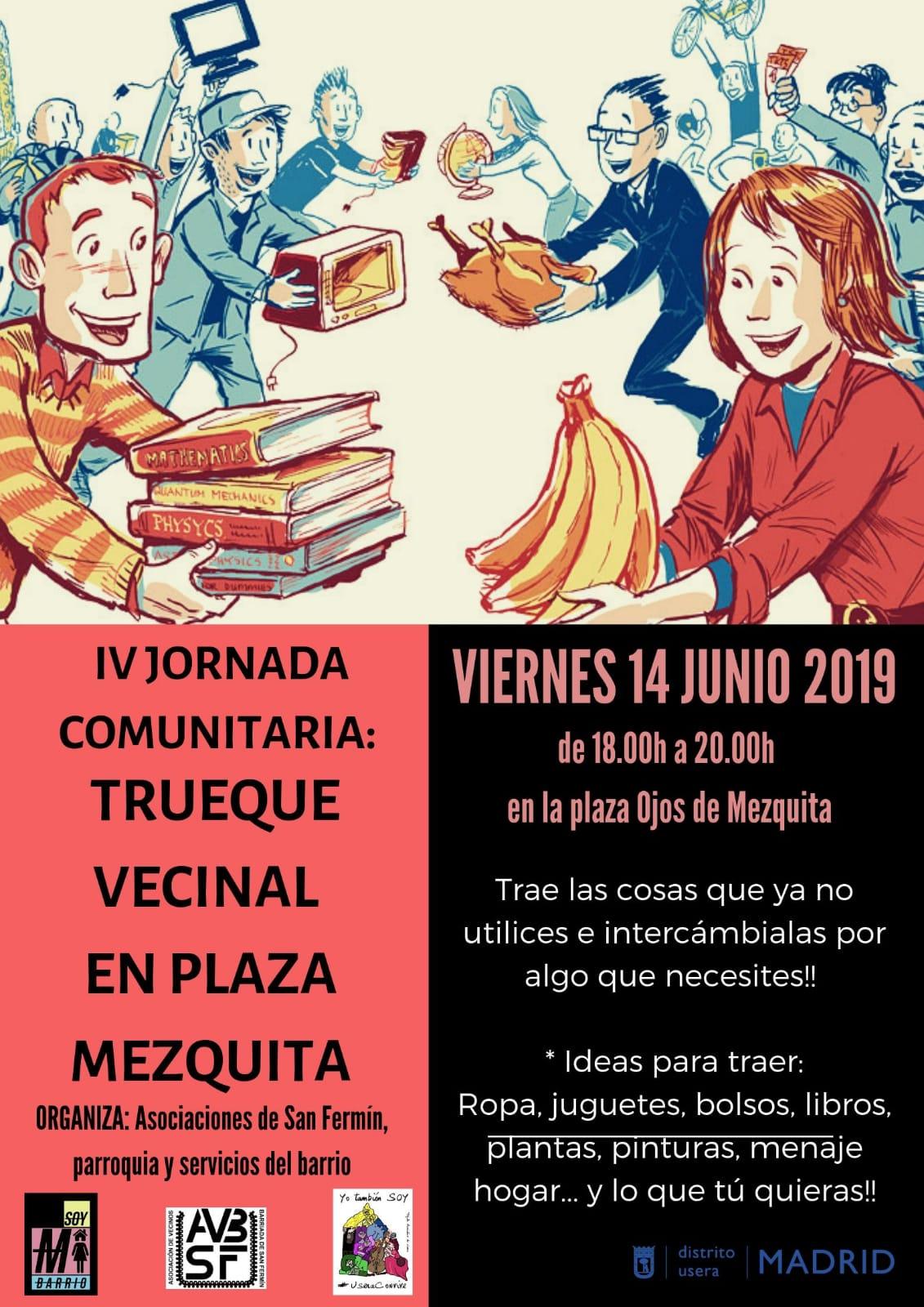 Trueque Vecinal en Plaza Ojos de la Mezquita. 14 de Junio de 2019