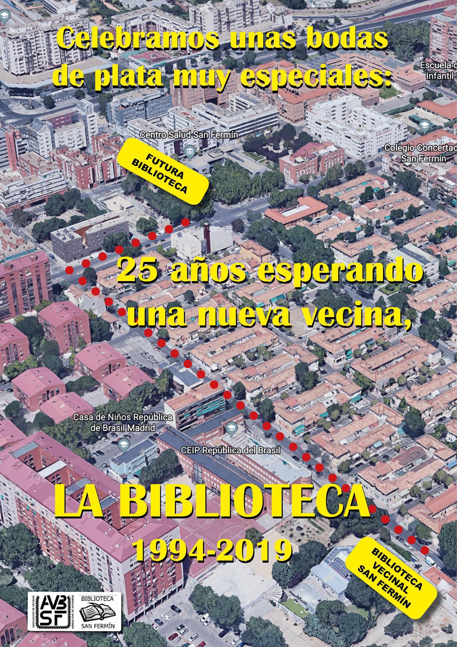 Celebración Bodas de Plata, 25 años esperando una nueva vecina, LA BIBLIOTECA (1994-2019)
