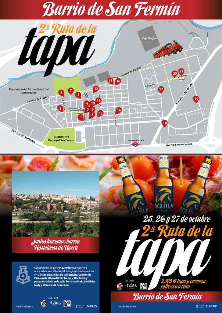 2ª Ruta de la tapa en el Barrio de San Fermín – 25, 26 y 27 de octubre