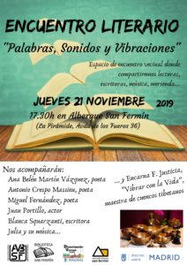 ¡¡RECUERDA!! El jueves 21 de Noviembre vamos a tener el Encuentro Literario de este año.