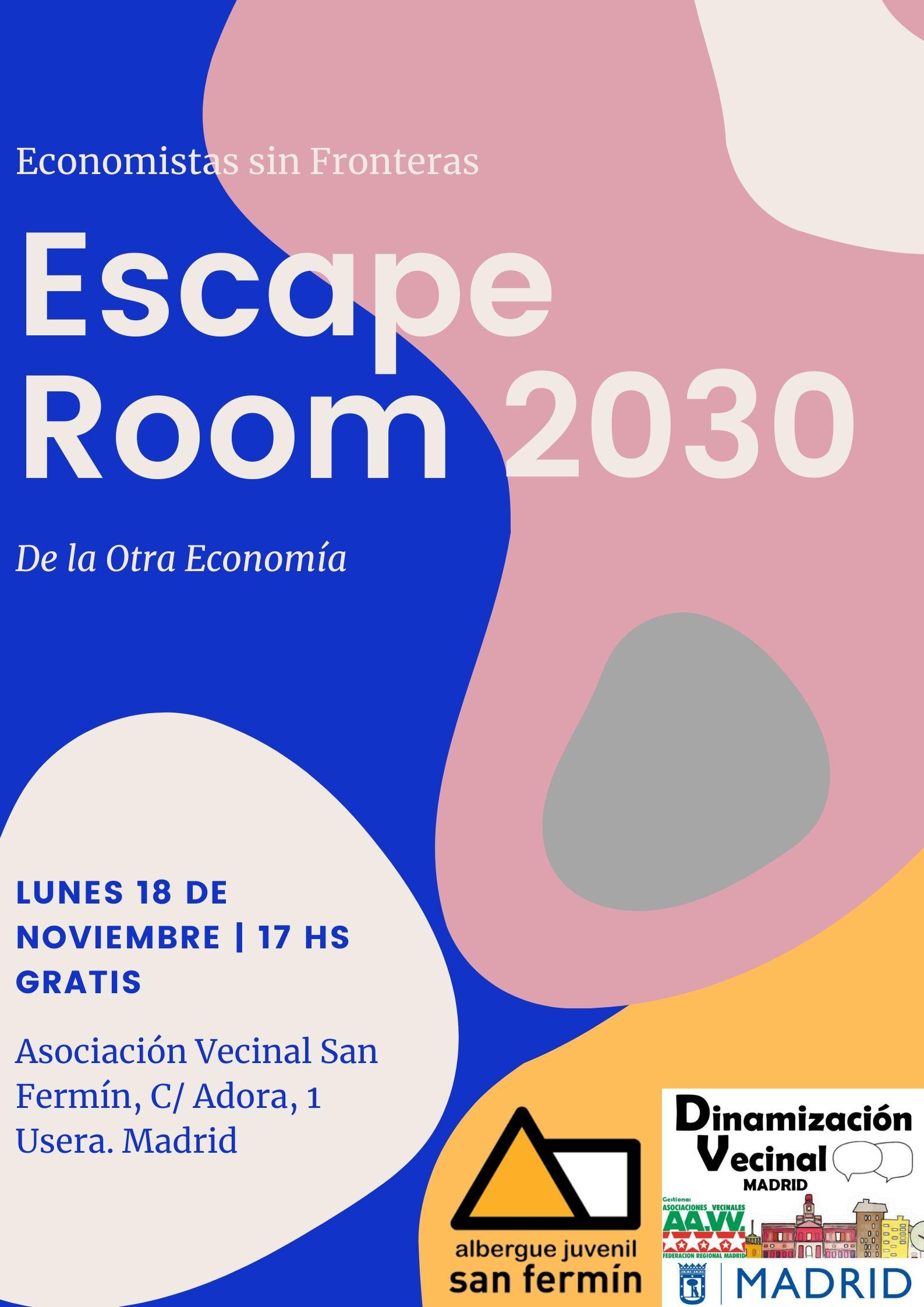 """""""Escape Room para Jóvenes"""", Lunes de 18 Noviembre."""