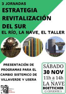 IIIªs Jornadas Nave Boetticher. Estrategia para la revitalización del Sur: el Río, la Nave, el Taller.
