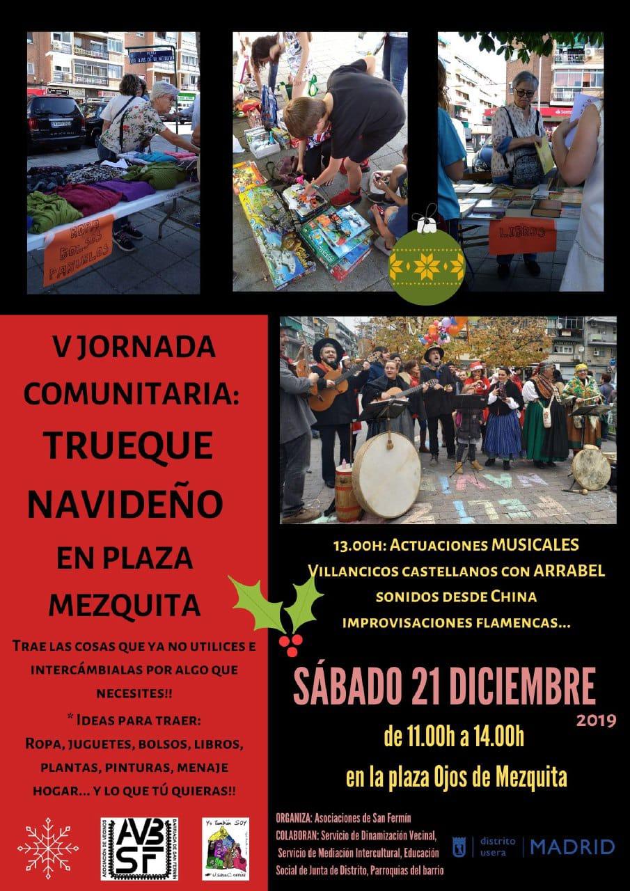 V Jornada Comunitaria en la Plaza Mezquita. Trueque Navideño. Sábado 21 de diciembre de 2019.
