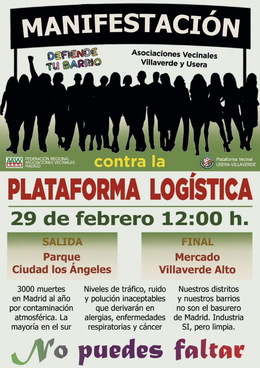 Por qué el rechazo a la Plataforma Logística en Villaverde. Manifestación el sábado 29 de Febrero