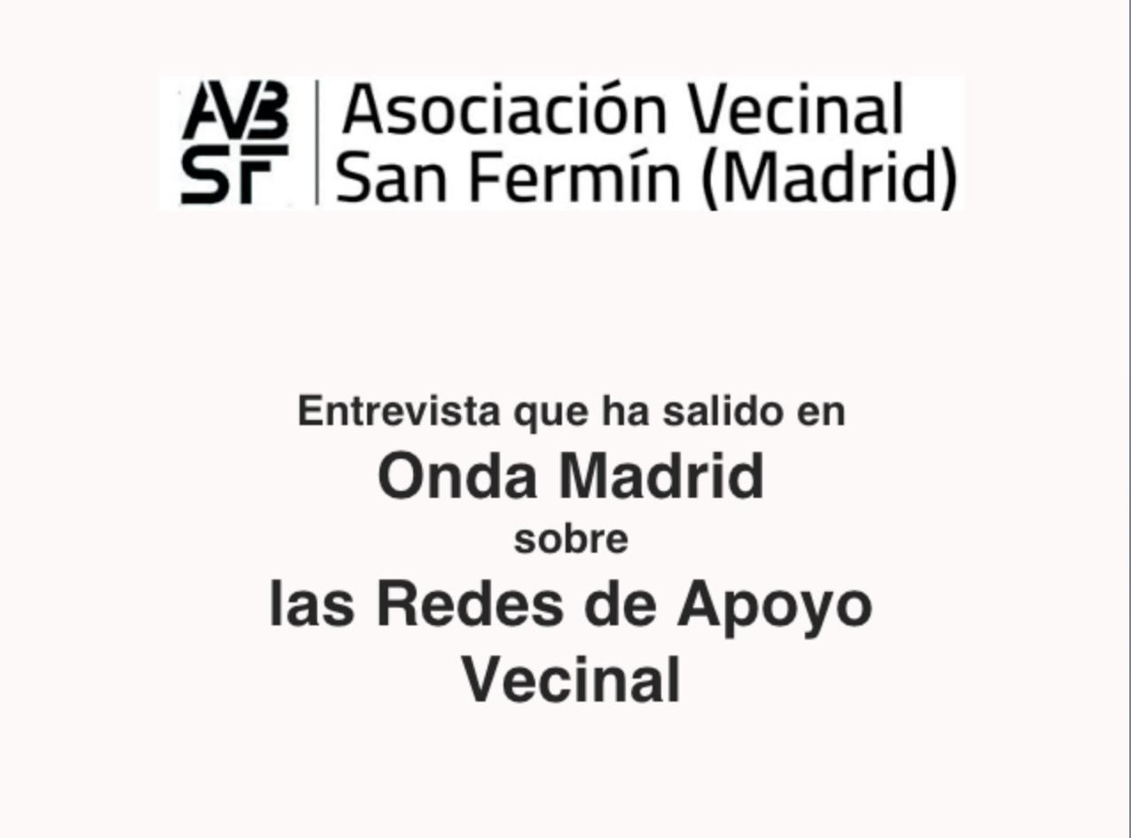 """Redes Vecinales de Apoyo y de Cuidados. Somos """"solidaridad"""", y también noticia."""