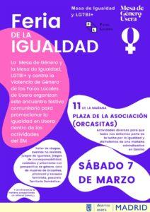 Feria por la Igualdad, el día 7 de marzo.