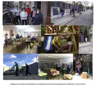 Balance de la ayuda alimentaria en San Fermín