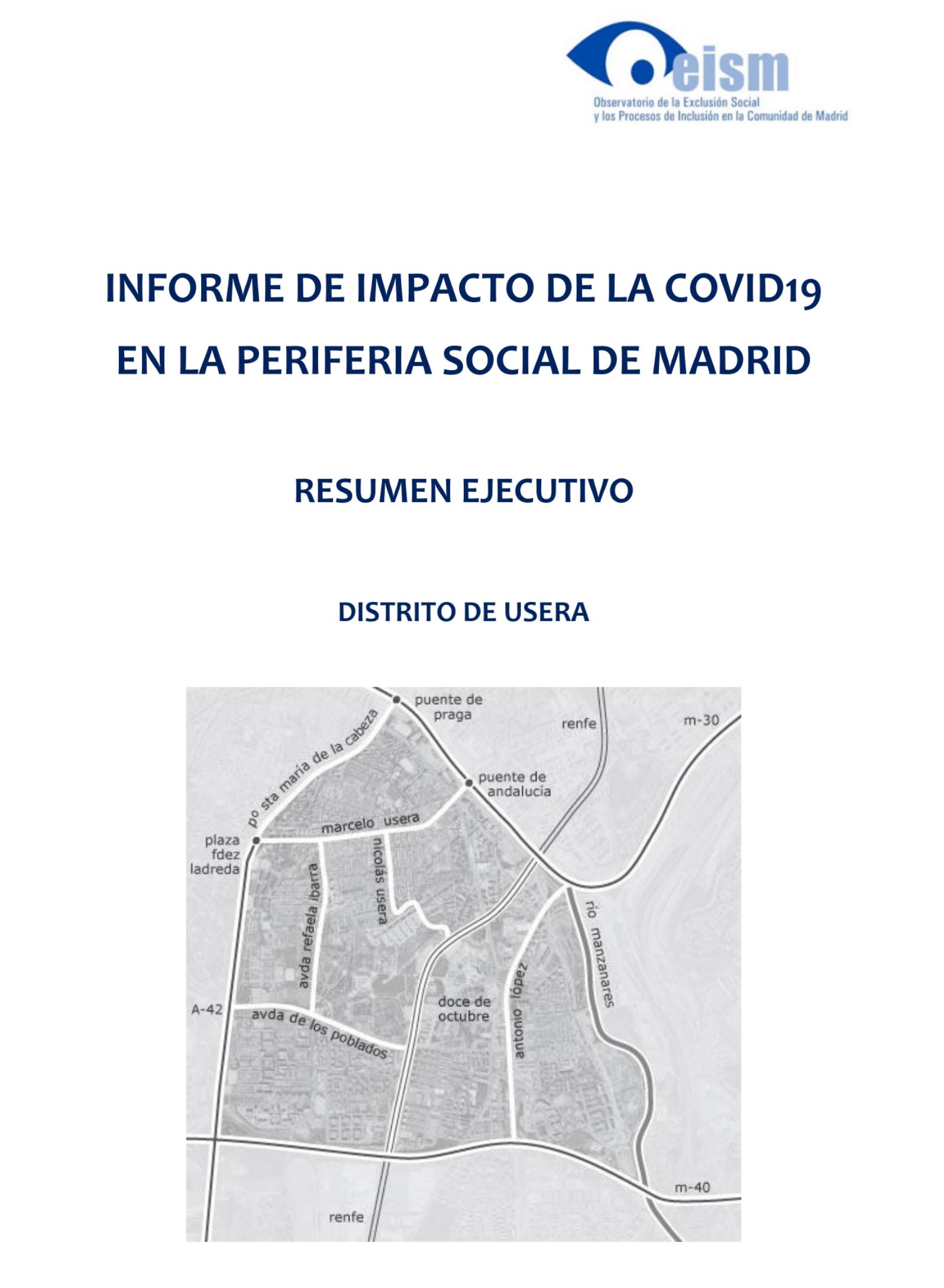 NFORME DE IMPACTO DE LA COVID-19 EN LA PERIFERIA SOCIAL DE MADRID.