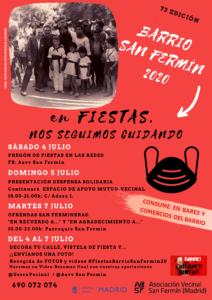 """""""HOLA GENTES SANFERMINERAS"""". BARRIO SAN FERMÍN 2020. FIESTAS."""
