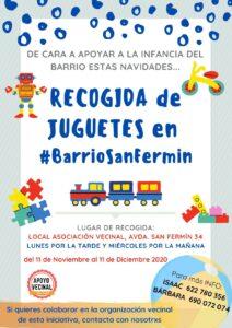 RECOGIDA DE JUGUETES EN EL BARRIO DE SAN FERMÍN