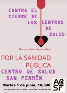 """LA COMUNIDAD DE MADRID HA DECIDIDO CERRAR NUESTRO CENTRO DE SALUD DE LA AVENIDA DE SAN FERMÍN """"POR VACACIONES"""""""
